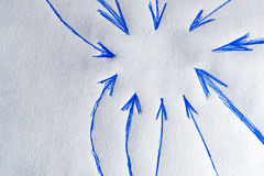 Background with arrows pointing in circle Stock Image