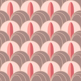 Background in Art Deco style with feathers 1 Royalty Free Stock Image