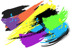 Background art design and brush Royalty Free Stock Image