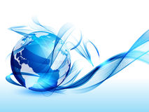 Background with art globe Stock Images