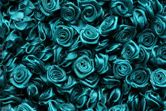 Background of artificial flowers. Royalty Free Stock Image