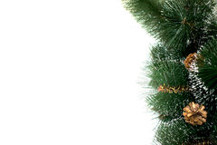 Background of artificial needles. Background of artificial pine needles closeup Stock Images