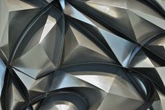 Background as abstract pyramids made of metal Stock Image
