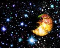 Background as nightly sky royalty free illustration