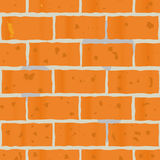 Background as wall of red bricks Stock Photo