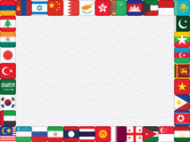 Background with Asian countries flags Royalty Free Stock Image