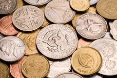 Background of assorted coins. Royalty Free Stock Images
