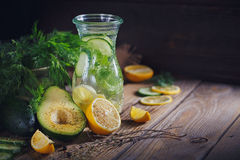 Background with assorted green vegetables Royalty Free Stock Photography