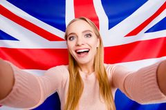 Background astonished amazed national mad trendy jack union symbol learning fooling people person delight rejoice concept. Close stock photos