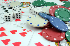 Background of attributes gambling Royalty Free Stock Photos