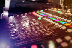 Background of audio mixer Stock Photos