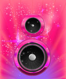 Background with audio speaker Royalty Free Stock Images