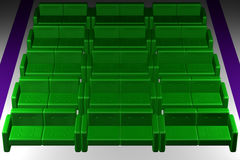 Background - Auditorium. 3D rendering. Background - Auditorium. View from the stage. 3D rendering Stock Photo