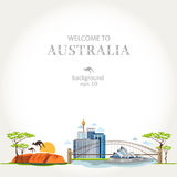 Background australia panorama Stock Image