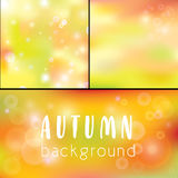 Background Autumn. golden bokeh as background. Abstract background, lights.Beautiful festive golden bokeh as background Royalty Free Stock Photo