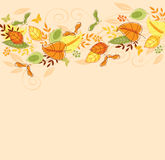 Background with autumn leaves Stock Photos