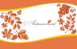 Background with autumn leaves Royalty Free Stock Image