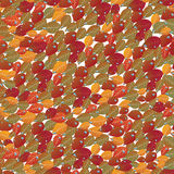 Background with autumn leaves and drops. Seamless background with autumn leaves and drops Royalty Free Stock Photos
