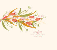 Background of autumn leaves greeting cards Stock Photo