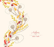 Background of autumn leaves greeting cards Royalty Free Stock Photography