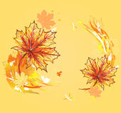 Background with autumn maple leafs. Royalty Free Stock Images