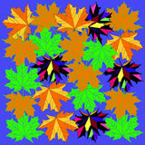 Background with autumn maple leaves Stock Image