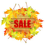 Background autumn sale Royalty Free Stock Images