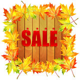 Background autumn sale Stock Images
