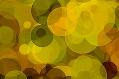 Background of autumnal colors. Circles with bokeh effects. texture olive leaves Stock Photography