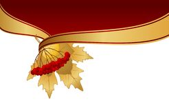 Background with autumnal leaves Royalty Free Stock Images
