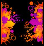 background with autumnal leaves and blots. Royalty Free Stock Image