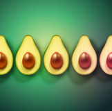 Background with avocado Stock Photography