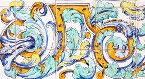 Background of azulejos from Plaza de Espana, Sevilla Stock Photos