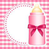 Background with baby bottle Royalty Free Stock Photo