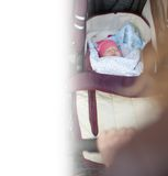 Background of baby carriage at outdoor Royalty Free Stock Photo