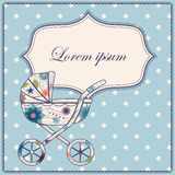 Background with baby carriage Royalty Free Stock Photo