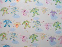 Background of baby dresses. A background of baby dresses Royalty Free Stock Image