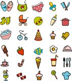 background with baby icons Royalty Free Stock Photography