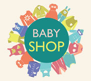 Background for baby shop, Royalty Free Stock Image