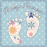 Background baby shower boy vintage Royalty Free Stock Photos