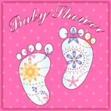Background baby shower girl gradient Royalty Free Stock Photography