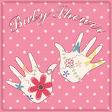 Background baby shower girl vintage Royalty Free Stock Photography
