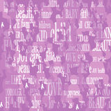 Background with baby silhouette. And associated words Royalty Free Stock Images