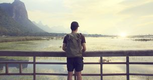 Background, Backpack, Backpacker stock image