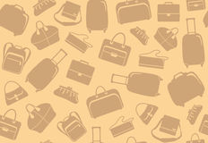 Background from bags and suitcases Stock Photos