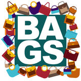Background with bags Stock Images