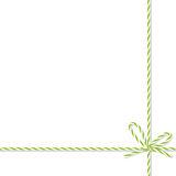 Background with bakers twine bow and ribbons Royalty Free Stock Photo