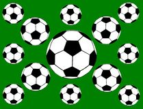Background with ball. Abstract background with a soccer ball royalty free illustration