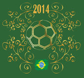 Background ball 2014 brasil wm Stock Photo