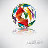 Background of ball with texture triangles with place for text Stock Photos